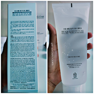 lagom cellup gel to water cleanser ingredients