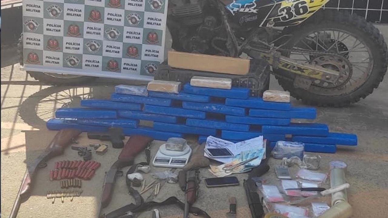 Polícia Militar apreende seis armas de fogo e mais de 20 quilos de maconha em Araçariguama