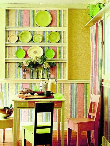 kitchen decorating ideas : vinyl wallpaper for the kitchen