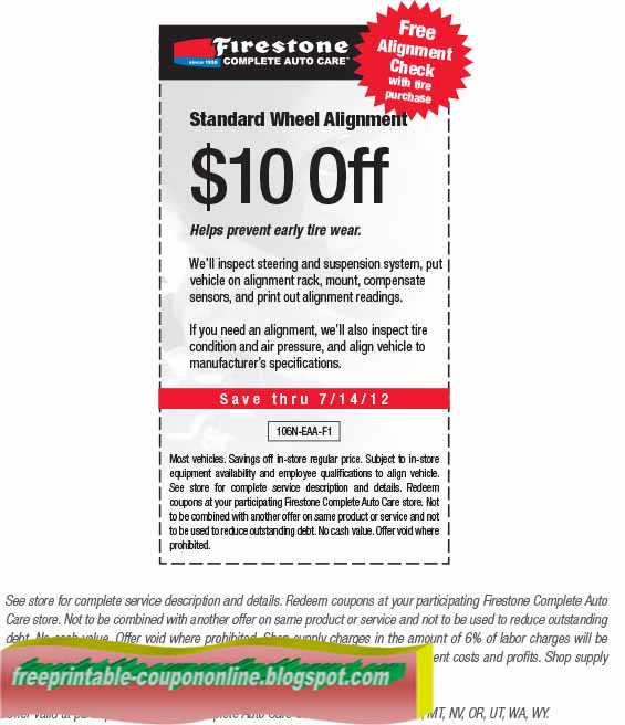 Firestone brake coupons 2018
