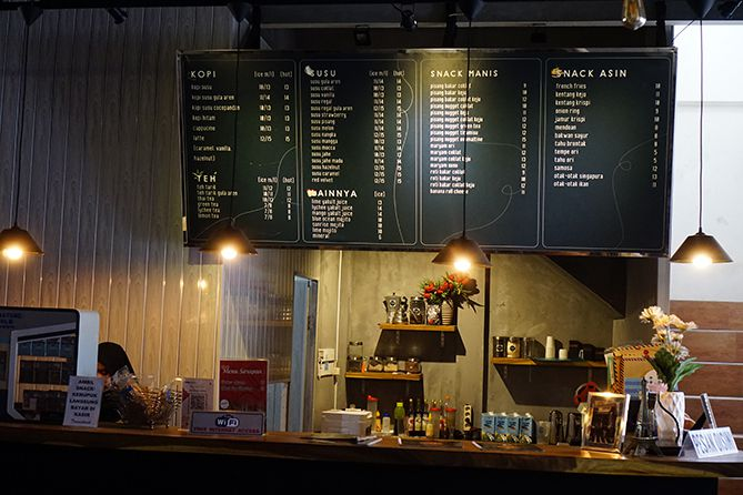 Daftar menu dan harga kedai kopi dan susu nongki Jepara