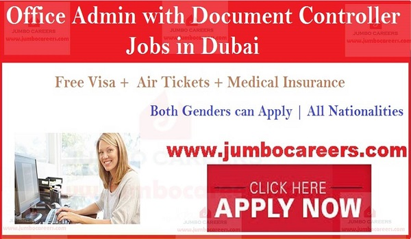 Free visa air ticket jobs in Dubai, Latest job openings in Dubai,