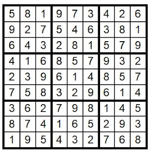 Answer Key Sudoku #36 Brain Training with Cats ©BionicBasil®