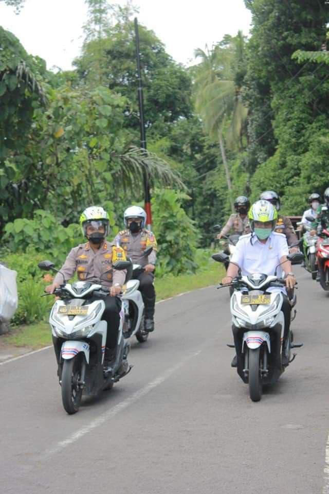 HUT Satlantas Ke-66 , Wali Kota dan Kapolres Bitung Launching Kelurahan Tertib Lalu Lintas