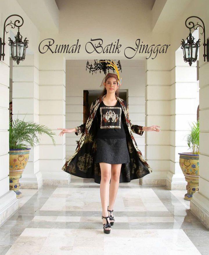 Busana Batik Cap Kombinasi untuk Wanita Dinamis by Rumah Batik Jinggar