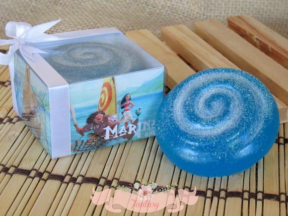 Lembrancinha sabonete Moana para Festa Infantil