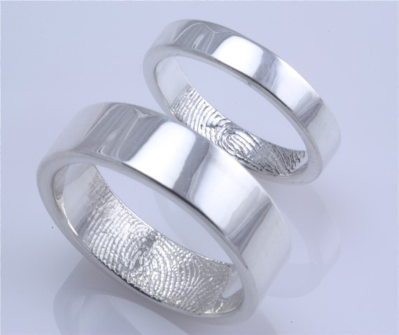 Wedding Rings Fingerprints Fingerprint Band Ideas Ring Inscriptions