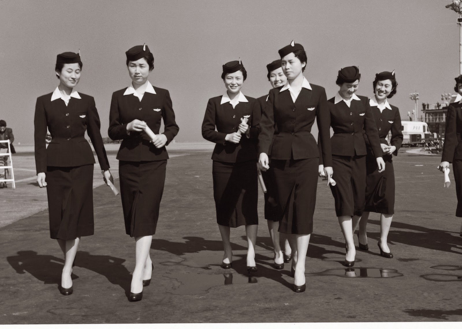 uniform vintage flight attendant