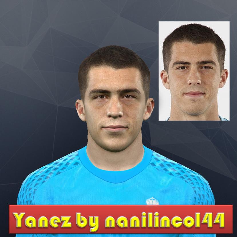 PES 2017 Rubén Yáñez (Real Madrid) Face by nanilincol44