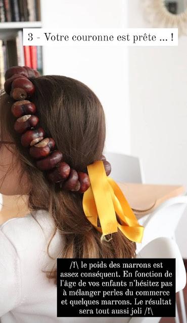 DIY couronne de marrons