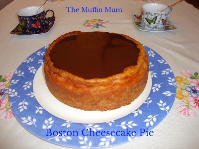 Boston cheesecake pie