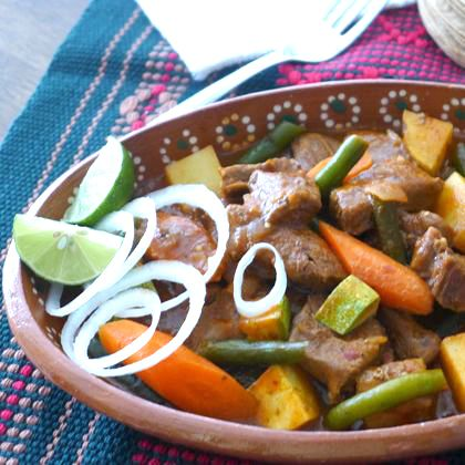 Slow-Cooker Lamb in Yellow Mole Sauce