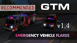 american truck simulator mods, ats ai mods, ats gtm team, ats mods, ats mods download, ats real flares mod v1.4, ats realistic mods, gtm team mods, recommendedmodsats, ats - gtm team emergency vehicle flares v1.4 poster