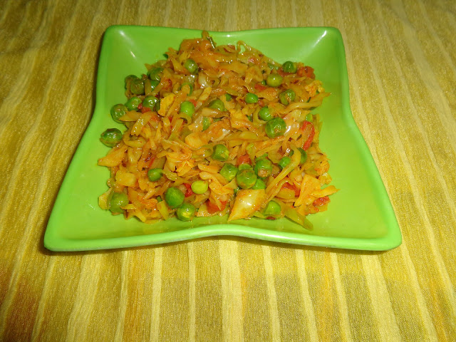 Cabbage peas vegetable