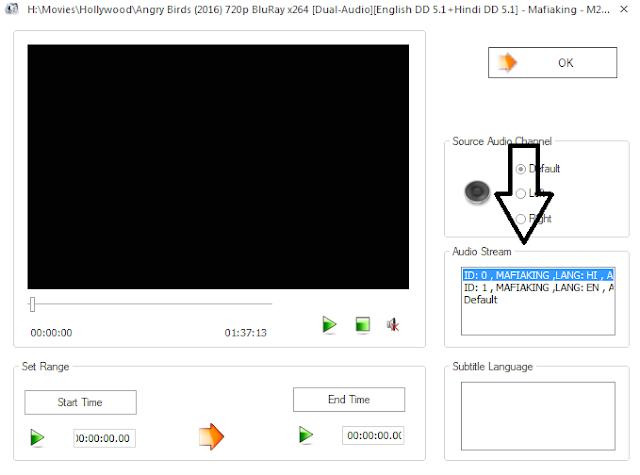 How to Convert Dual Audio Movie to Single Audio?