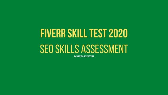 fiverr skill test answer 2020, fiverr seo test,seo skill assessment test , fiverr test answer,fiverr skill test