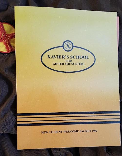 Carta de la escuela de Xavier en X-Men: Apocalypse