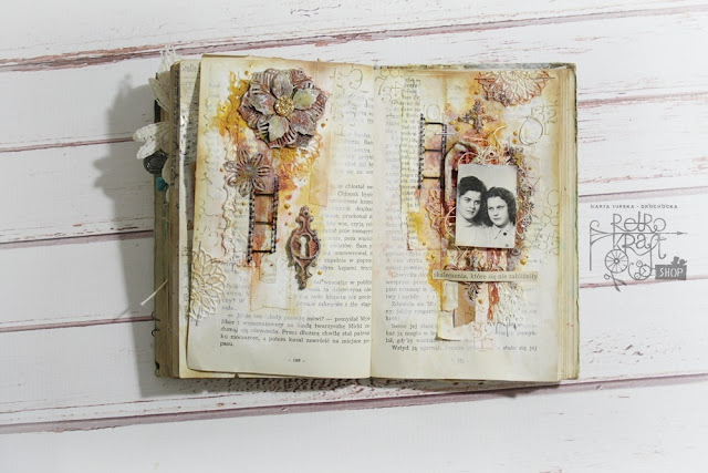 Rusty lace art journal