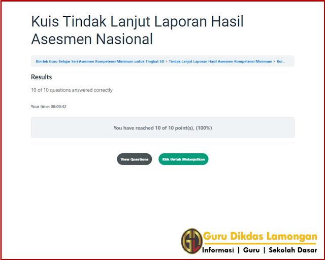 Kuis Tindak Lanjut Laporan Hasil Asesmen Nasional