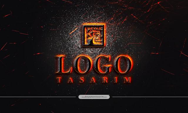 3D logo tasarımı volkanik alev