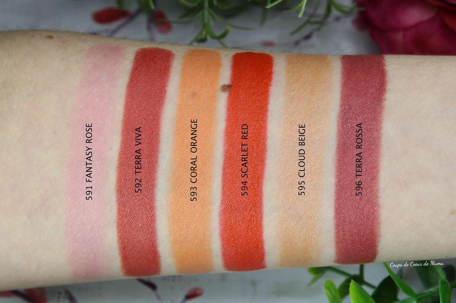 swatch lipstick mavala