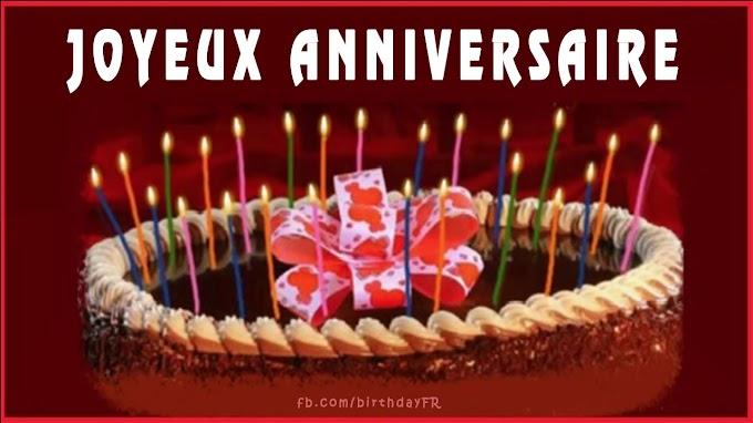 Bougies de gâteau photo, carte de voeux d'anniversaire