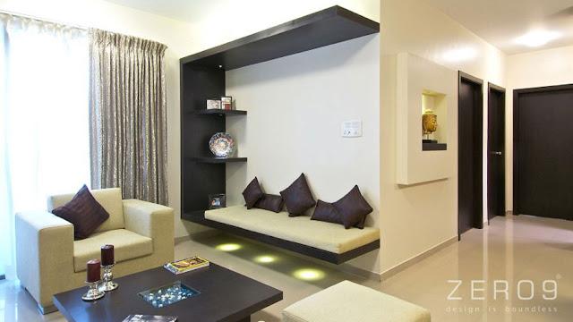 modern 2 bhk flat interior design