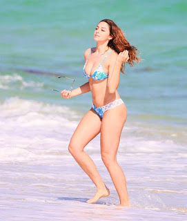 Celine Farach hot in bikini at the beach in Miami