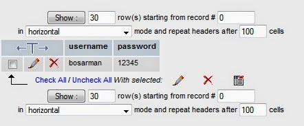 tabel phpmyadmin di xampp