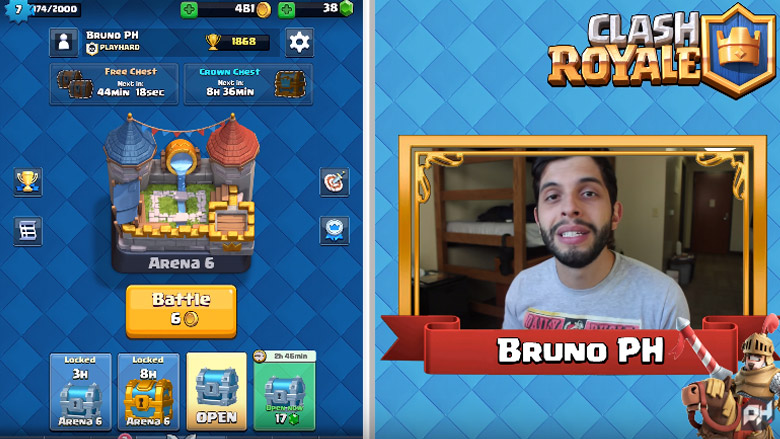 Canal PlayHard jogando Clash Royale - 1