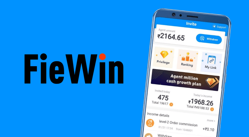 Fiewin refer and earn Program