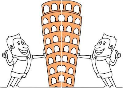 Construyendo en Papel La Torre de Pisa