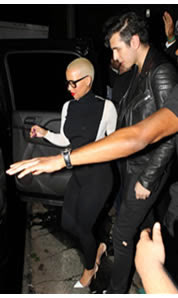 Amber Rose sale con Nick Simmon