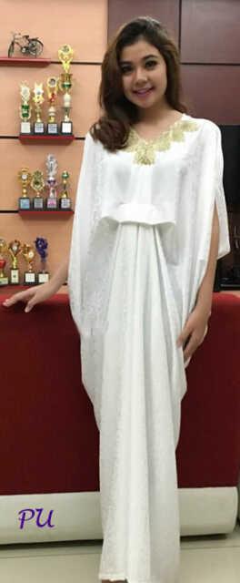 Ayuatariolshop distributor supplier gamis tangan pertama Baju gamis kaftan putih