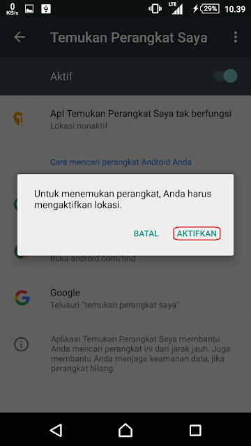 cara menemukan hp android yang hilang