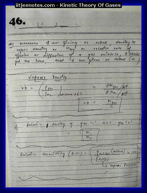 Kinetic Theory Of Gases Notes IITJEE16