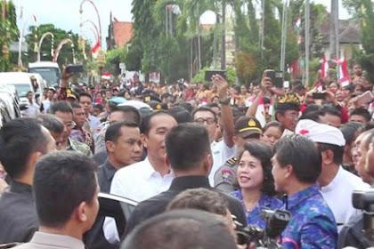 Meriah, Antusiasme Warga Klungkung Menyambut Presiden Jokowi