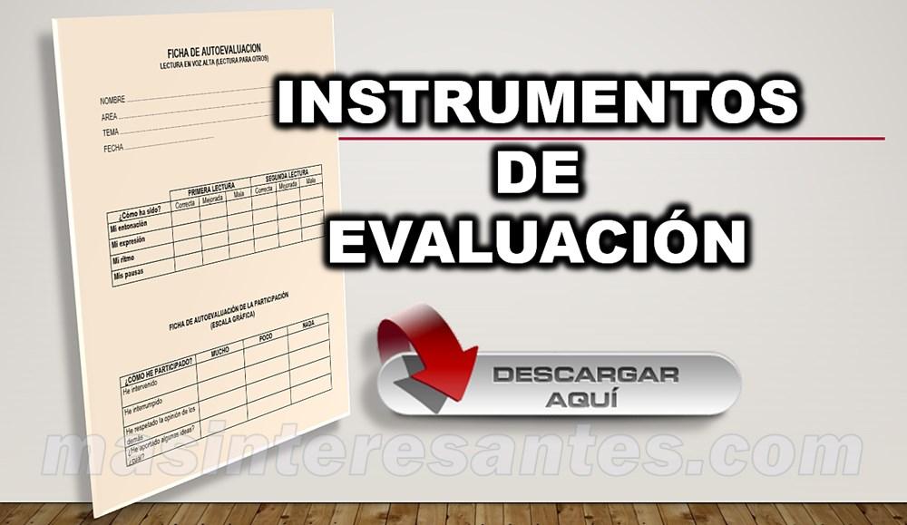 instrumentos de evaluación word