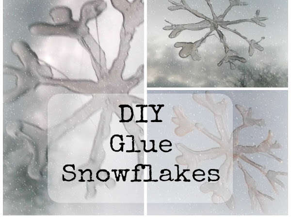 DIY Glue Snowflakes {Tutorial}