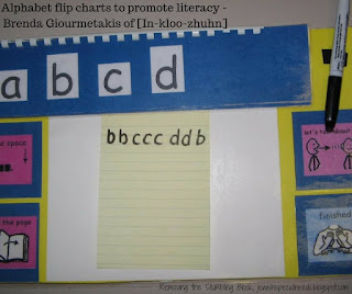 Alphabet flip charts to promote literacy; Removing the Stumbling Block