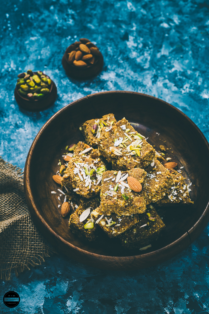 Katlu  - A Gujarati Style Winter Warmer Wholesome Bars are given to new mothers and consumed by all during winter months.