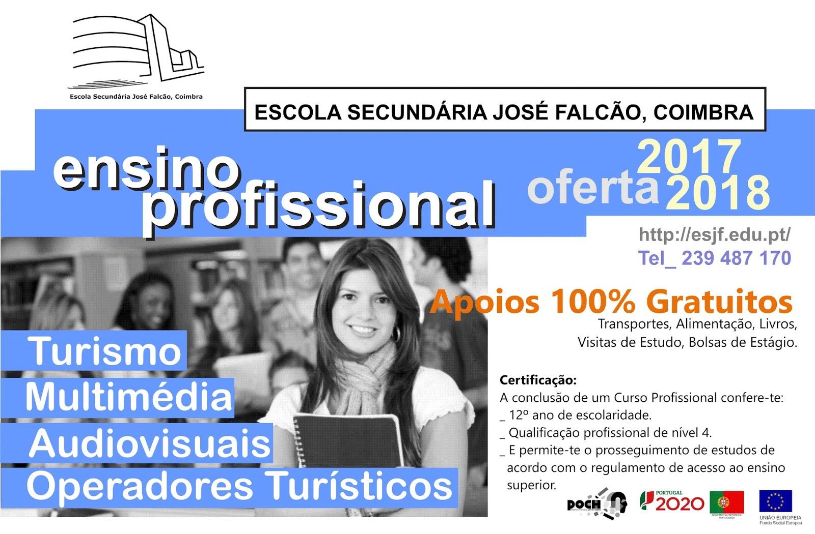 cursos profissionais Coimbra 2017