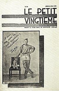 Le petit vingtieme tintín Hergé 1929 - efemérides 90 años