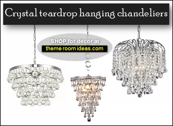 tiered crystal teardrop hanging chandeliers lighting glam room decor