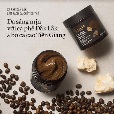 Cà phê Dak lak làm sạch da chết cơ thể Cocoon