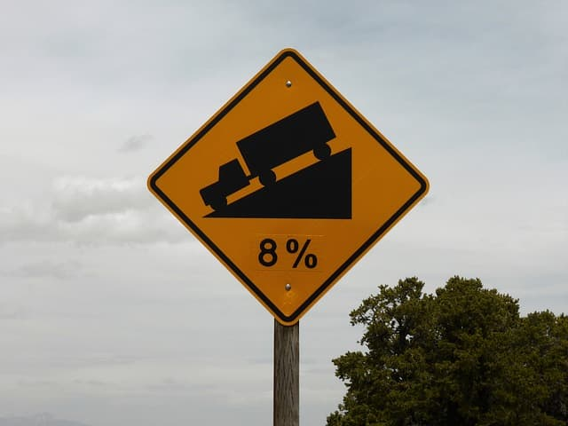traffic sign decline