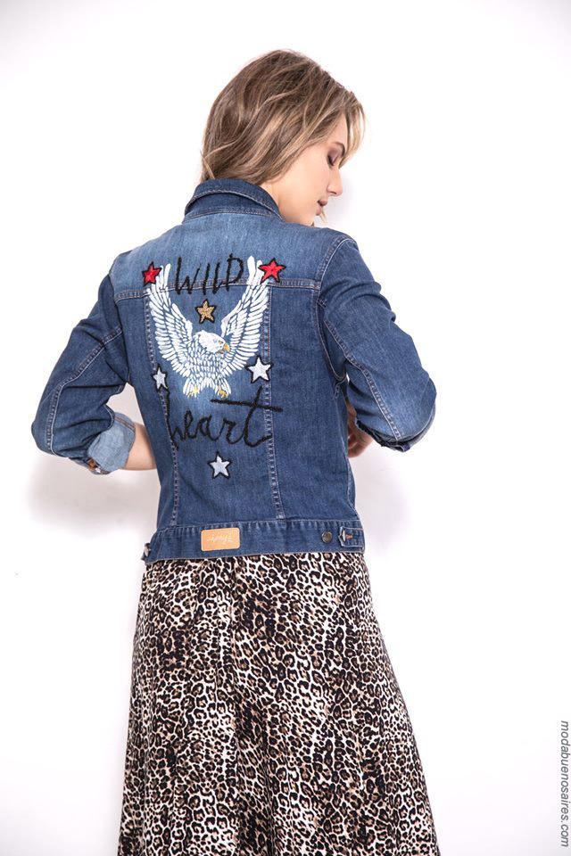Camperas de jeans primavera verano 2020 elastizadas.