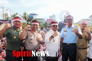 Inilah Kebersamaan Kapolda Warnai Apel Nasional Nusantara Bersatu