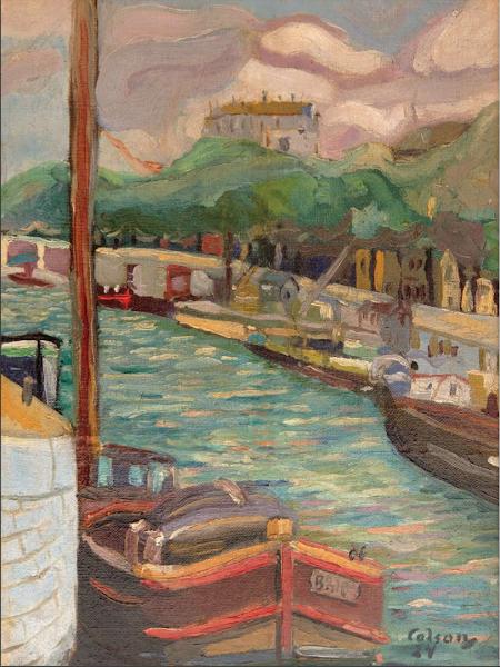 Paisaje de Sena, 1924