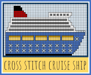 Free cross stitch cruise ship pattern design